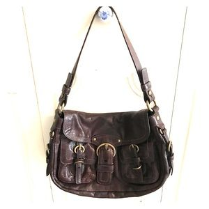 Gorgeous all leather authentic coach shoulder bag!